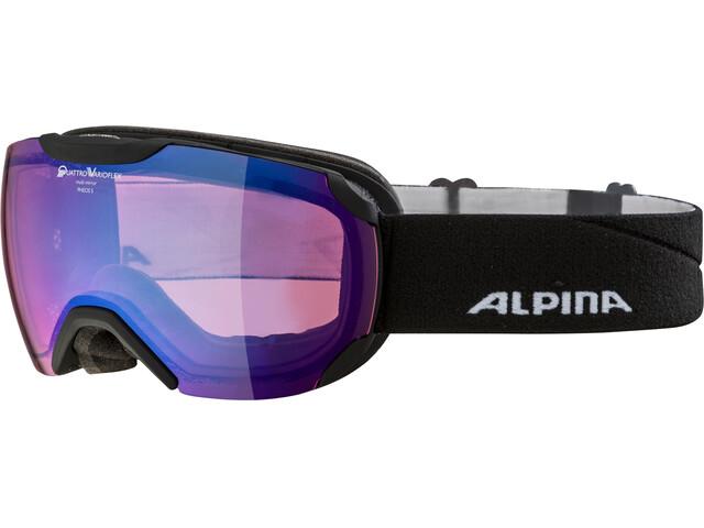 Alpina Pheos S QVMM Goggles black matt blue spherical
